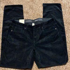 Sonoma NWT black stretch corduroy pants $40 sz 14